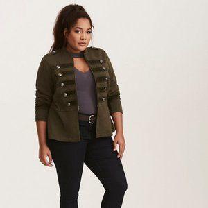 Torrid Green Military Inspired Full Zip Jacket, 2